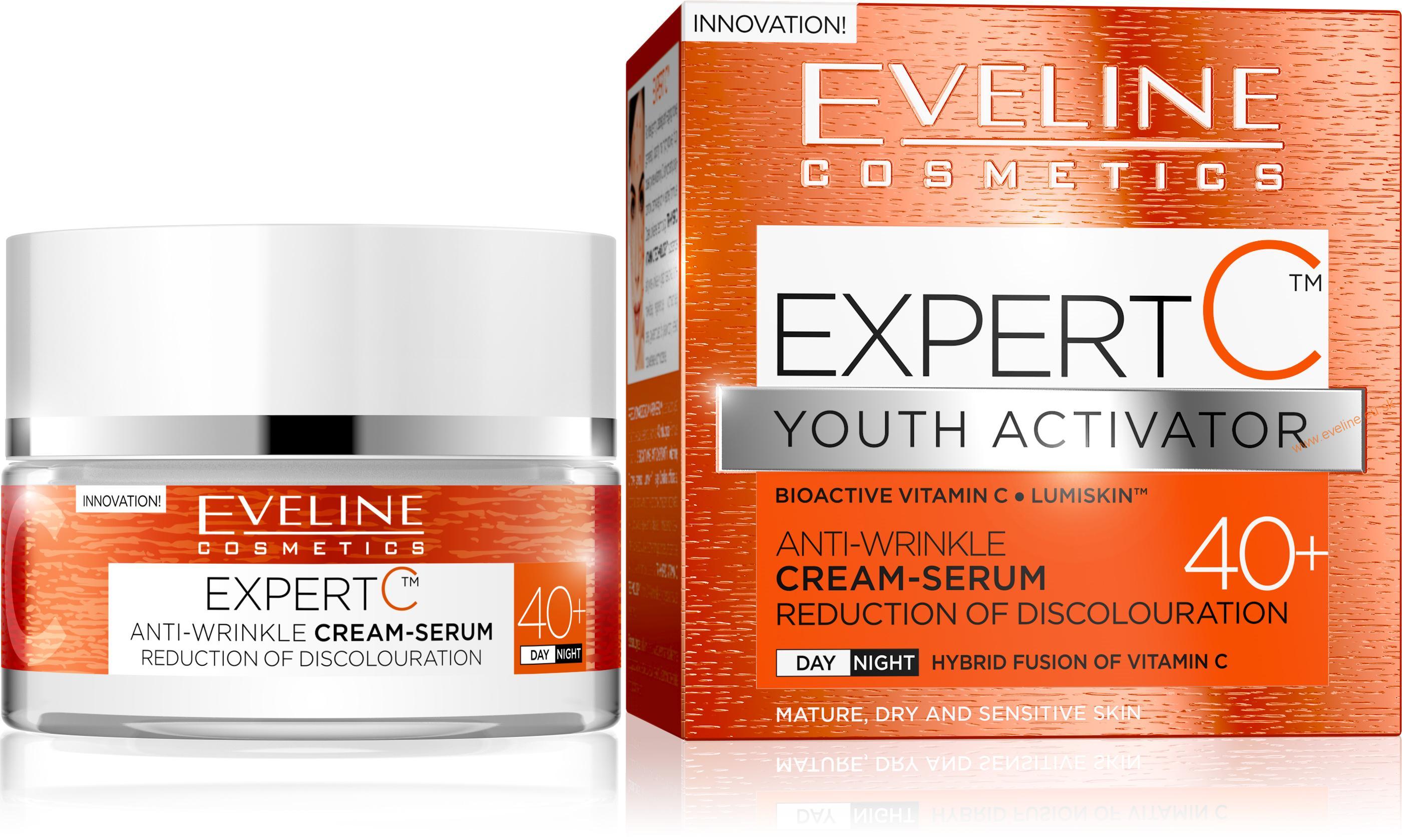 EVELINE Expert C aktivátor mladosti 40+ krém-sérum s vitamínom C ... 8b468090a3